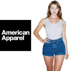 American Apparel High-Waisted Jean Shorts -Size 27